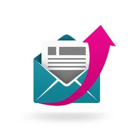 Blog icoon verhoog het aantal geopende e-mails