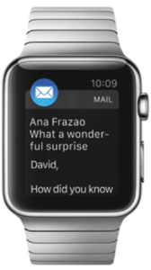 E-mail op Apple Watch