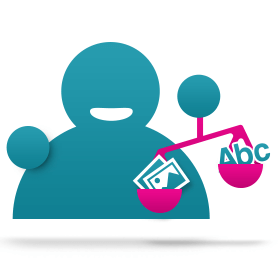 Blog icoon verhouding beeld en tekst