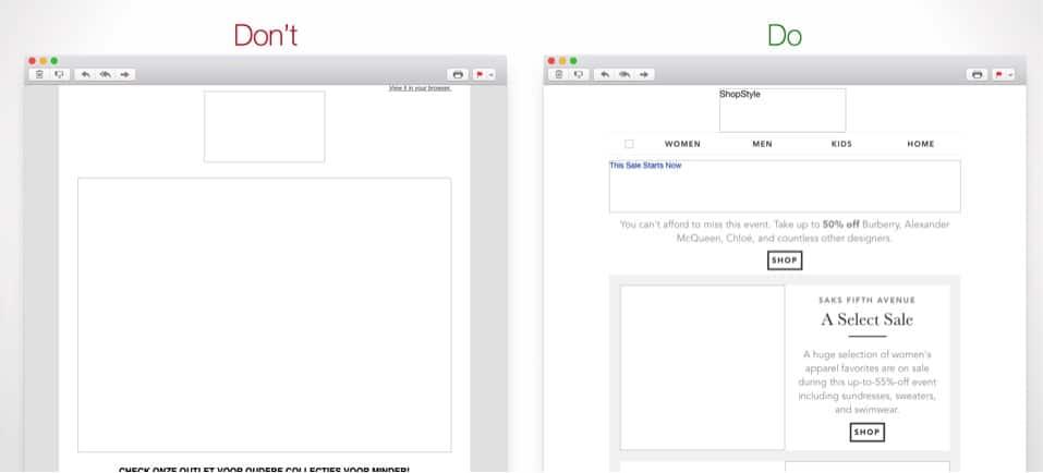 Mails zonder afbeeldingen