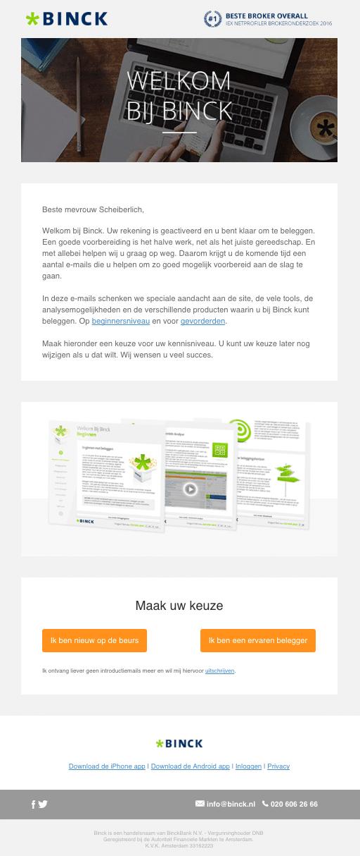 E-mailcampagne Binck